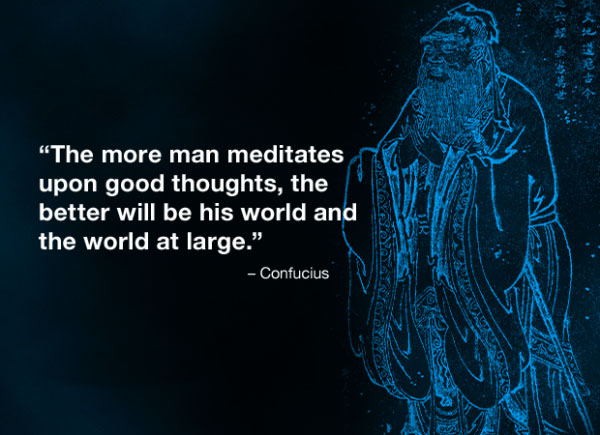 confusious on meditation
